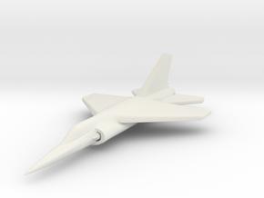 1/285 (6mm) Dassault Mirage F1  in White Natural Versatile Plastic