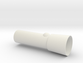 Torch in White Natural Versatile Plastic