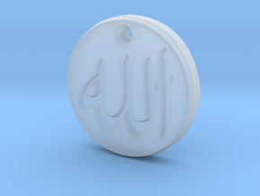 Allah Pendant in Smooth Fine Detail Plastic