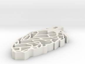 Hop Earring in White Natural Versatile Plastic