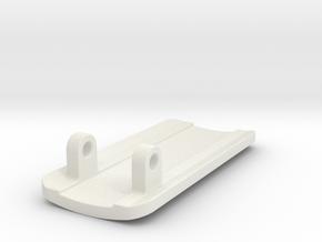 Pulse Oximeter Probe - Bottom in White Natural Versatile Plastic