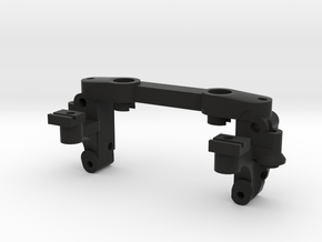 Mini-z double-A-arm mount V4 in Black Natural Versatile Plastic