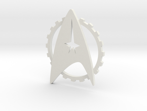 Into Darkness Custom Uniform Badge in White Natural Versatile Plastic