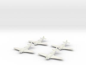 1/200 Lavochkin La-7 (x4) in White Natural Versatile Plastic