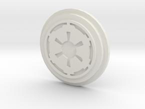 Imperial Logo Pommel Insert in White Strong & Flexible
