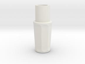 Sonic Screwdriver Grip - Matt Smith - Ceramic Matl in White Natural Versatile Plastic