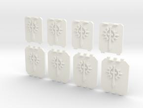 8 28mm Small & Large Tank Doors Sun Sword in White Processed Versatile Plastic
