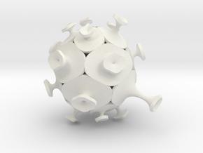 Afarley - Echinoid 1 in White Natural Versatile Plastic