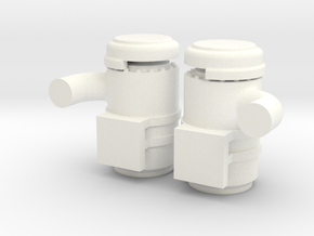 1/64th Semi Truck Air Cleaner w Elbows 2 in White Processed Versatile Plastic