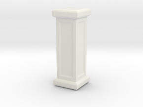 Square Pillar in White Natural Versatile Plastic