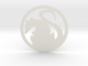 Nezumi-Mon in White Natural Versatile Plastic