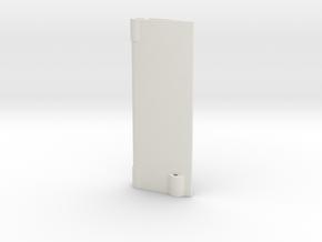Rudder in White Natural Versatile Plastic