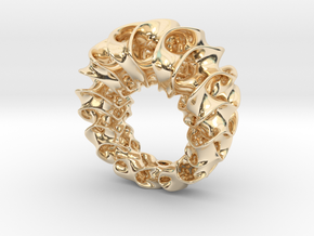 Gyroid Ring in 14K Gold