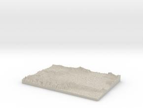 Model of Santa Monica in Natural Sandstone