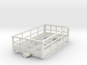 16mm scale 45mm gauge SM45 G Scale FR Slate Wagon in White Natural Versatile Plastic