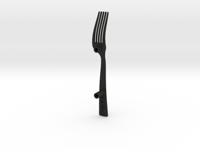 fork plastic in Black Acrylic