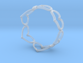 Hearts Bracelet 3inch in Smooth Fine Detail Plastic