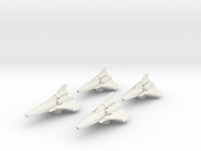 4x Colonial Viper Mk II 1/270 in White Strong & Flexible