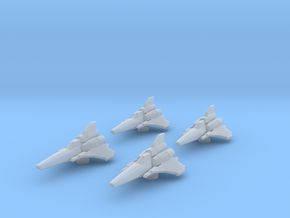 4x Colonial Viper Mk II 1/270 in Smooth Fine Detail Plastic