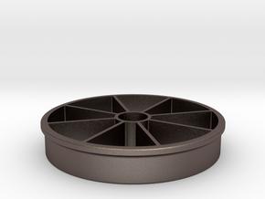 Apple Slicer 100mm/4-in Diameter in Polished Bronzed Silver Steel