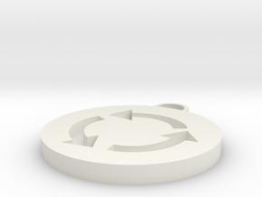 Roundabout Symbol in White Natural Versatile Plastic