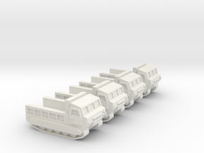 3mm M548 - Open Bed, No Ring-Mount (4 pcs) in White Natural Versatile Plastic
