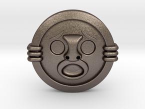 Mirror Shield II in Polished Bronzed Silver Steel
