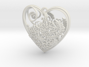 Elven Heart in White Natural Versatile Plastic