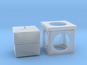 tangram cube (small edition) in Smooth Fine Detail Plastic