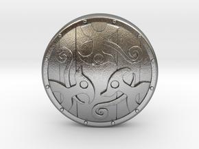 Braced Shield in Natural Silver