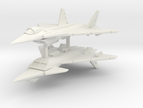 Mikoyan Project 1,44 Flatpack (x2) in White Natural Versatile Plastic: 1:300