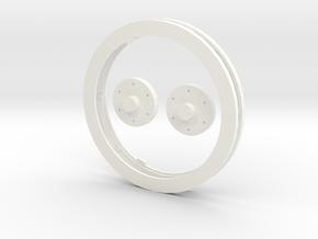 Idler Ring Set in White Processed Versatile Plastic