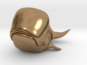 Happy Whale small 60mm long in Natural Brass
