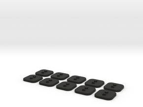 bX Minifig Base (Square)  / 10 pieces in Black Strong & Flexible