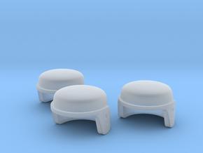 GI Joe Helmet For Minimates Set Of Three in Smooth Fine Detail Plastic