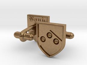 Heraldic Cufflinks [Bond] in Natural Brass