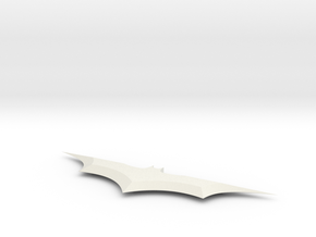 6 In Batarang in White Natural Versatile Plastic