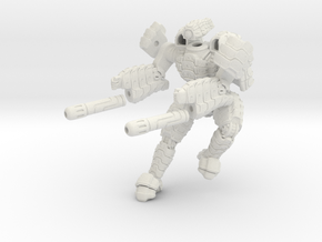 Mech suit with twin weapons. (6) in White Strong & Flexible