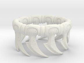 Zerg Ring in White Natural Versatile Plastic