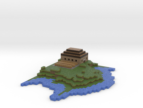 Island version two in Full Color Sandstone