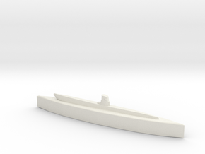 U-20 (Type II U-boat) 1/1800 in White Natural Versatile Plastic