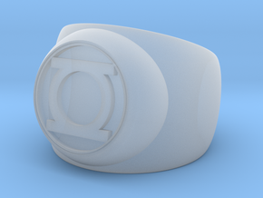 Green Lantern Ring- Size 13 in Smooth Fine Detail Plastic
