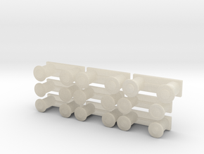 Bollards 1-72 in White Acrylic