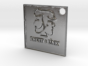 Rhett and Link Tag in Natural Silver