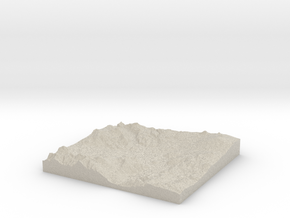 Model of Trout Lake in Natural Sandstone