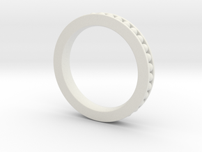 Stuckable band # 2 in White Natural Versatile Plastic