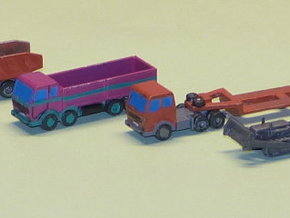 Construction Site Trucks 2 1/285 6mm in Smooth Fine Detail Plastic
