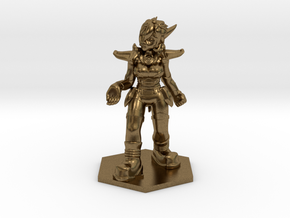 Helja, Dwarven Dracomancer 1:36 Scale in Natural Bronze