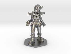 Helja, Dwarven Dracomancer 1:36 Scale in Natural Silver
