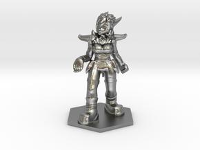 Helja, Dwarven Dracomancer 1:72 Scale in Natural Silver